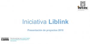 Presentación de la Iniciativa LibLink : proyectos 2018